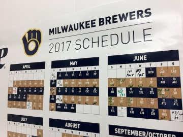 The Brewers Schedule
