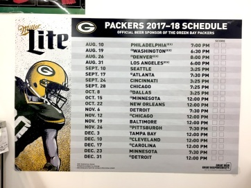 The Packers Schedule