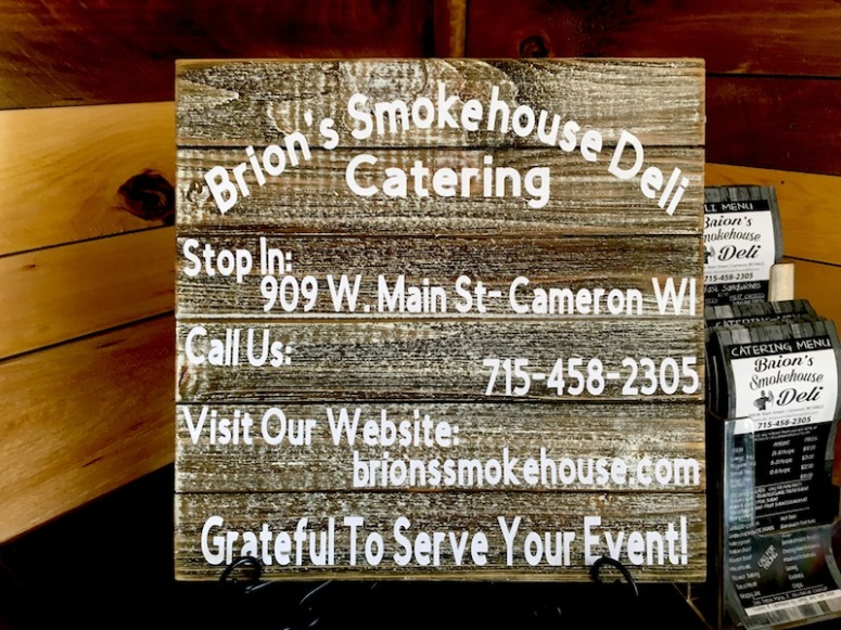 Smokehouse Wood Sign